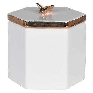 Petit pot céramique avec couvercle d'abeille